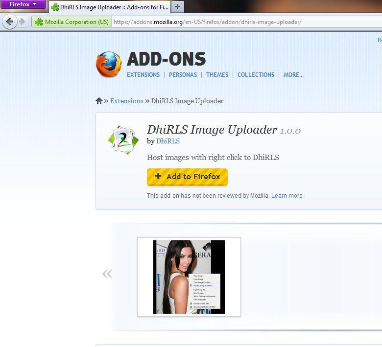 DhiRLS Image uploader